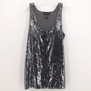 INC Metallic Stretch Sequin Racer Back Tank